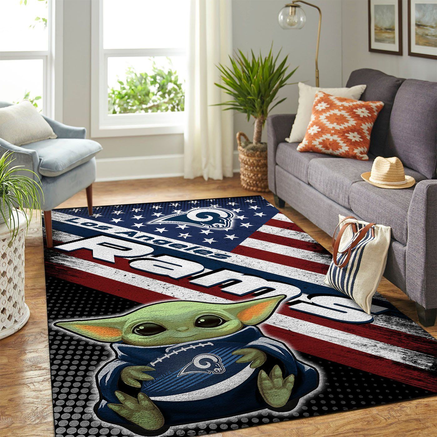 Amazon Los Angeles Rams Living Room Area No3666 Rug