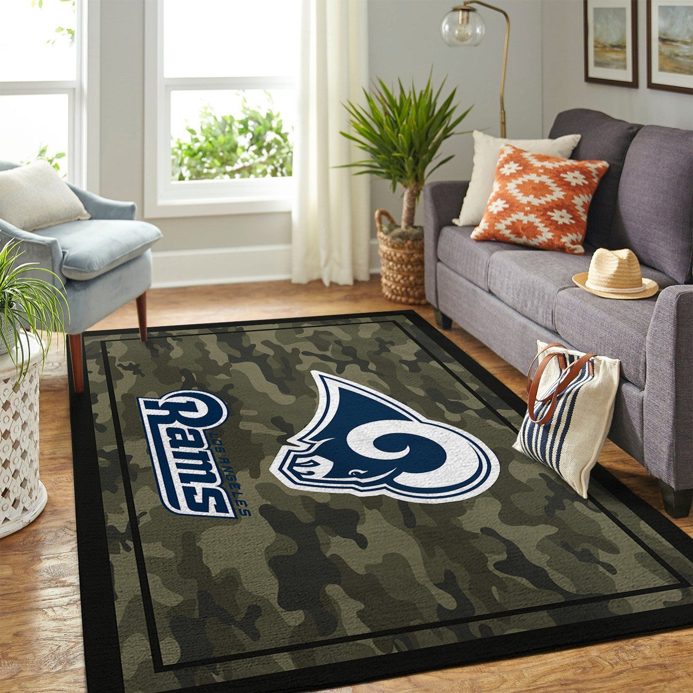 Amazon Los Angeles Rams Living Room Area No3667 Rug