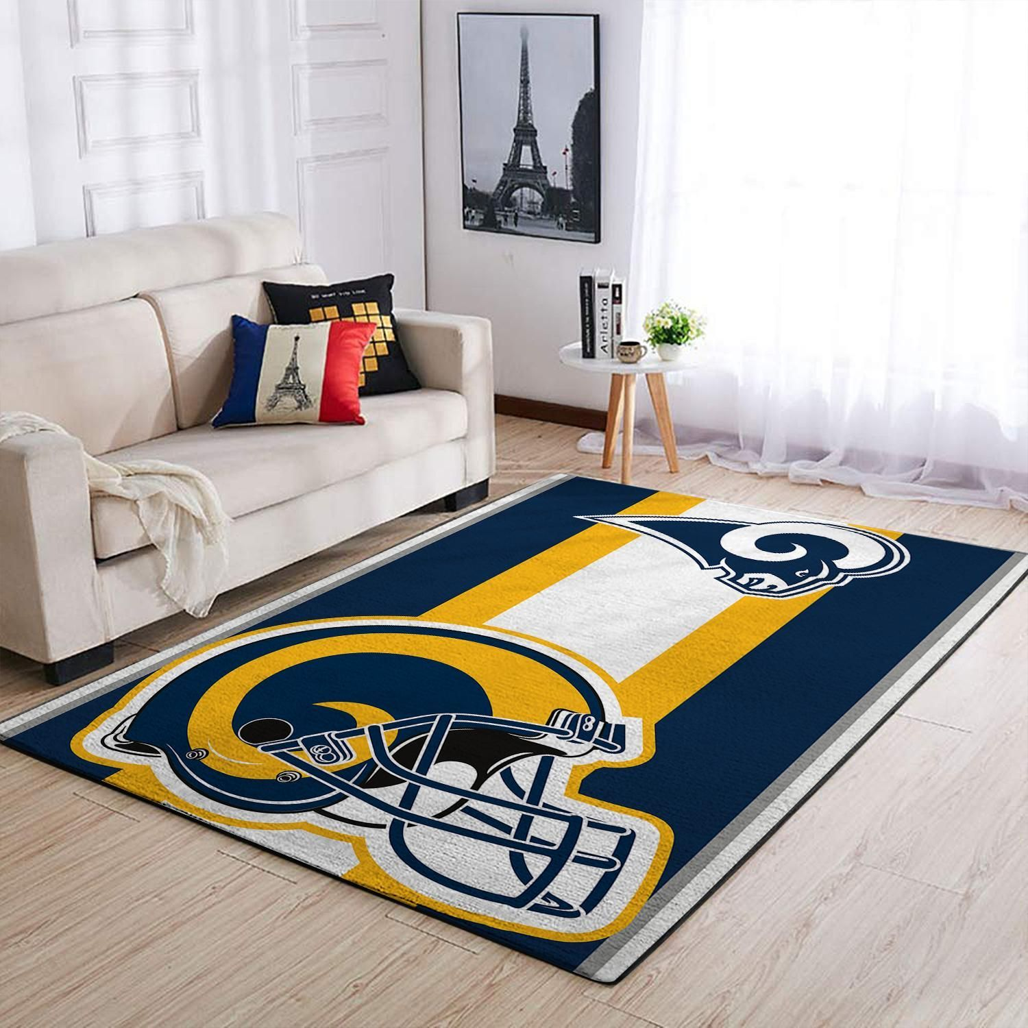 Amazon Los Angeles Rams Living Room Area No3670 Rug