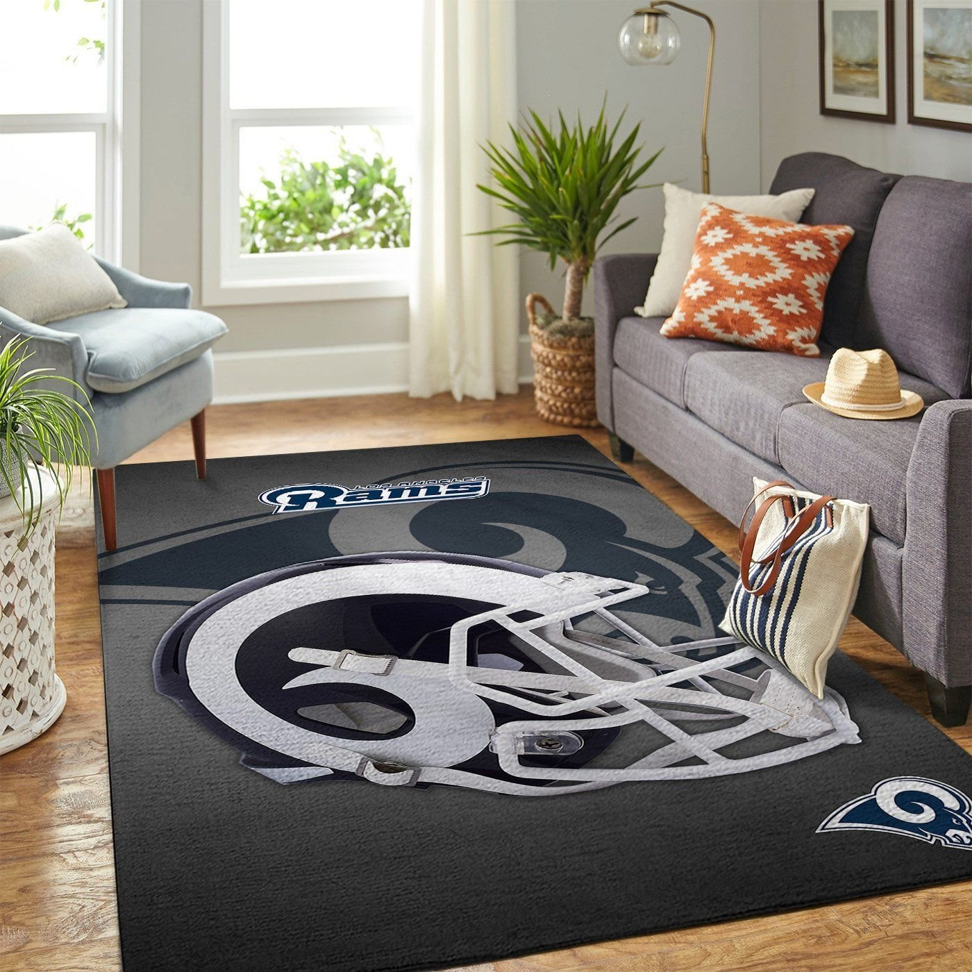 Amazon Los Angeles Rams Living Room Area No3671 Rug