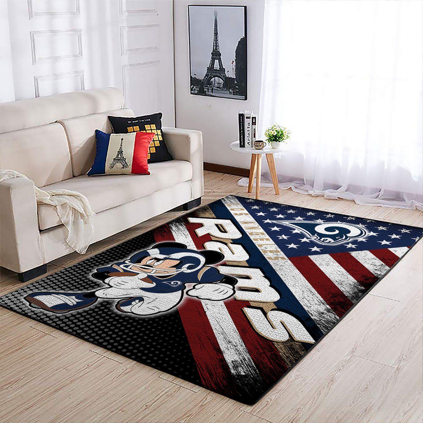Amazon Los Angeles Rams Living Room Area No3673 Rug