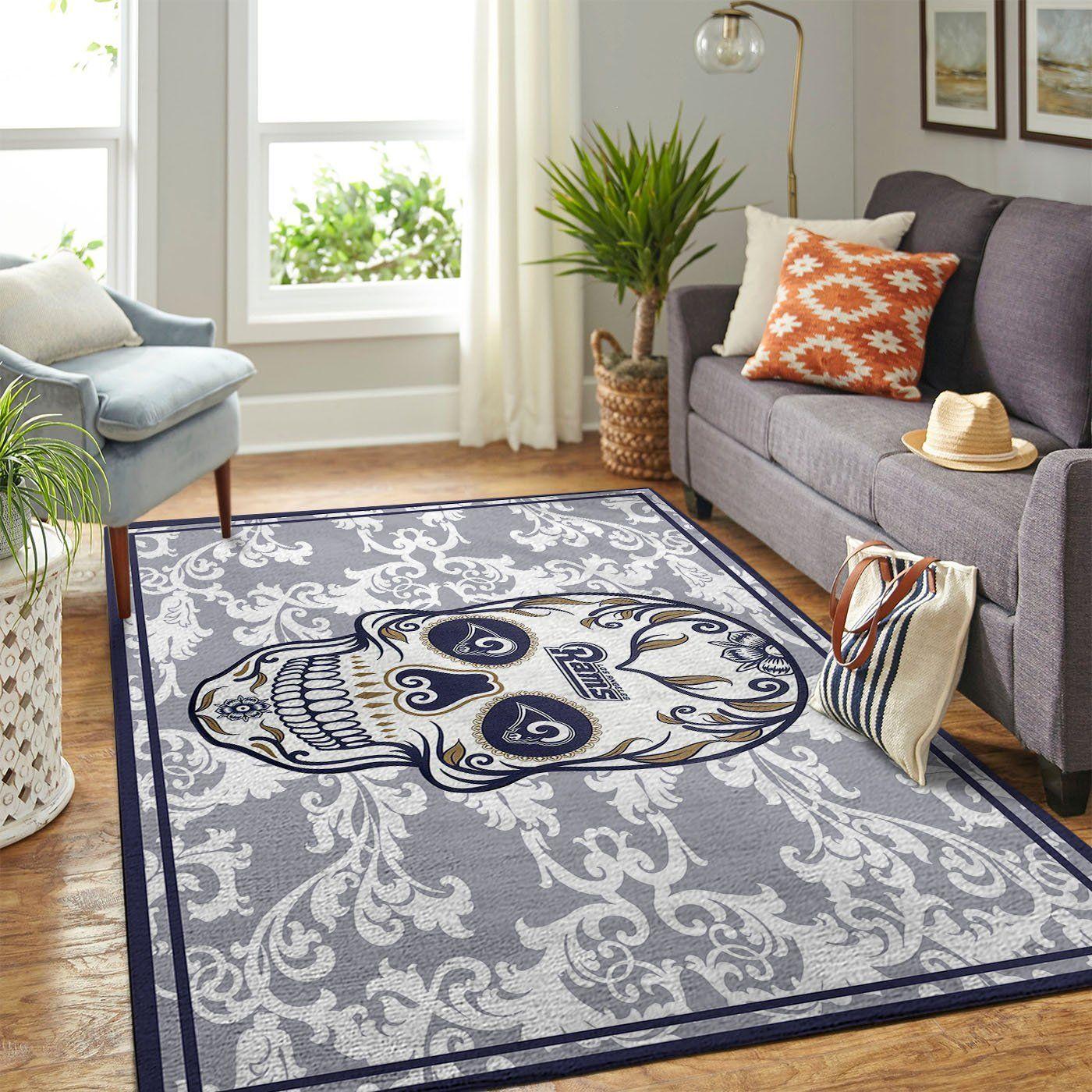 Amazon Los Angeles Rams Living Room Area No3675 Rug