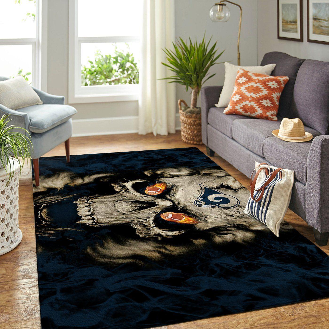 Amazon Los Angeles Rams Living Room Area No3676 Rug