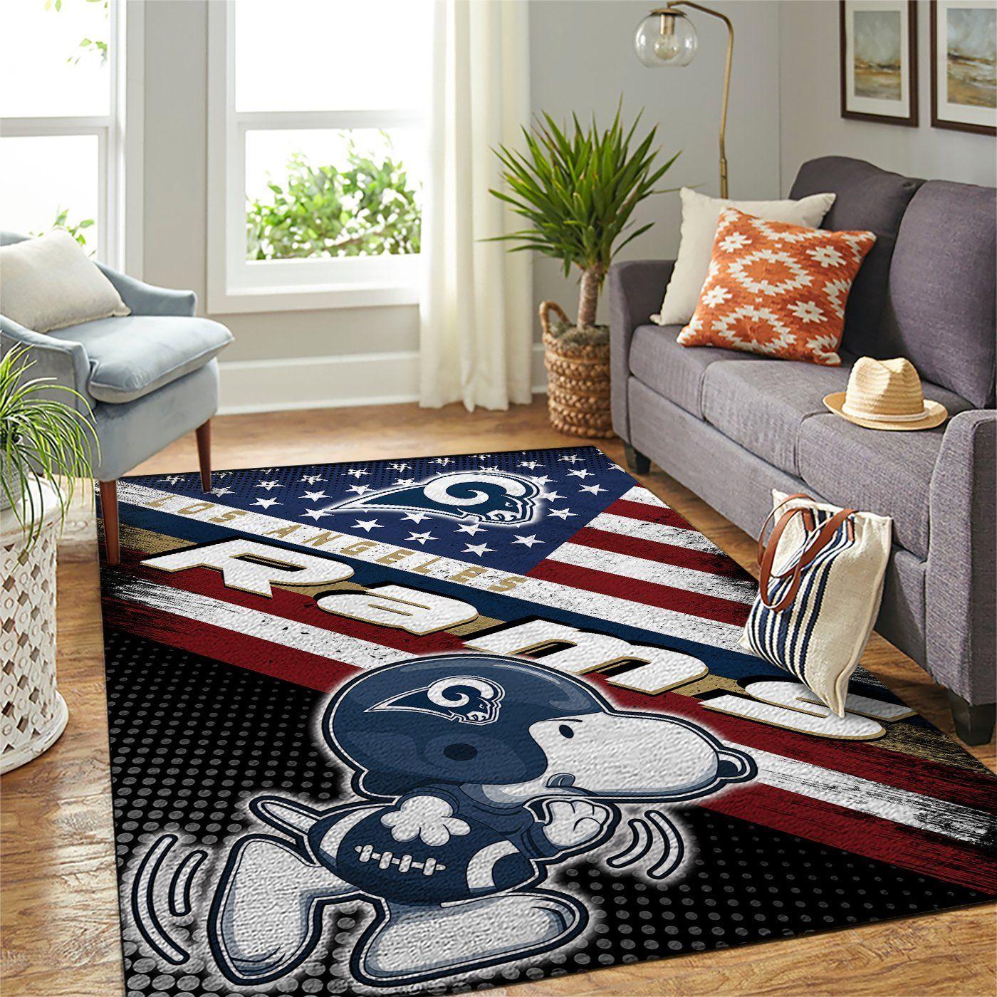 Amazon Los Angeles Rams Living Room Area No3677 Rug