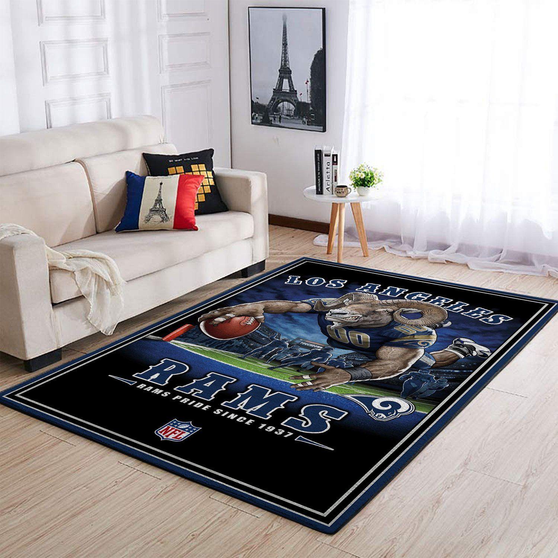 Amazon Los Angeles Rams Living Room Area No3680 Rug