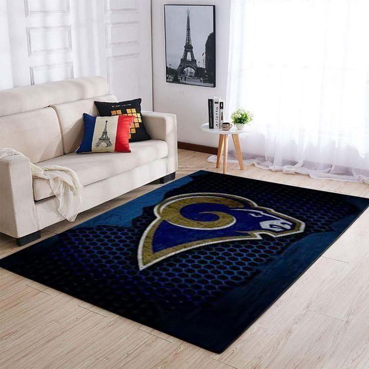 Amazon Los Angeles Rams Living Room Area No3690 Rug