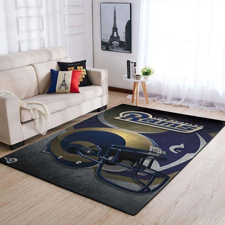 Amazon Los Angeles Rams Living Room Area No3693 Rug