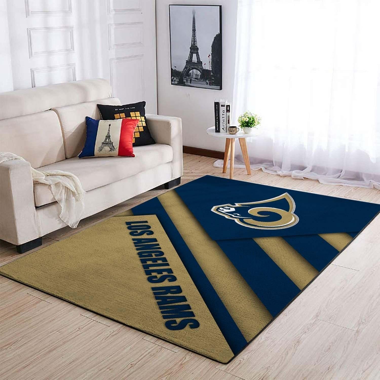 Amazon Los Angeles Rams Living Room Area No3694 Rug