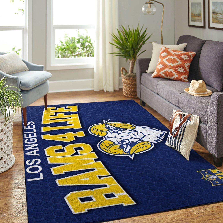 Amazon Los Angeles Rams Living Room Area No3696 Rug