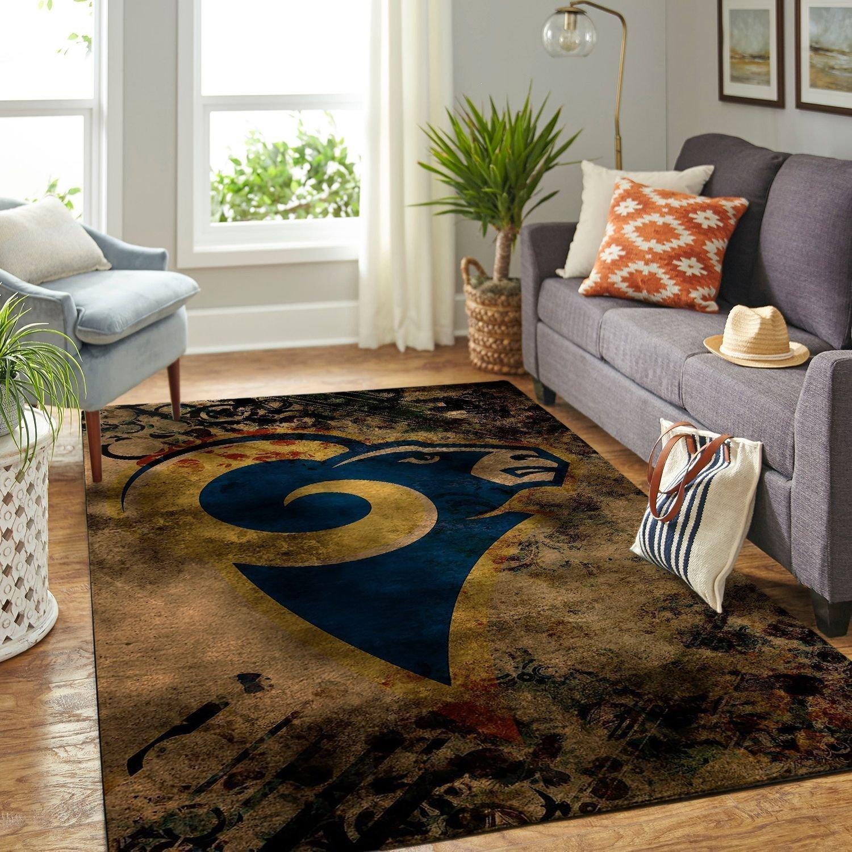 Amazon Los Angeles Rams Living Room Area No3697 Rug