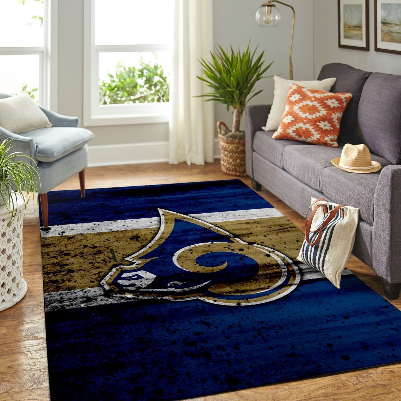 Amazon Los Angeles Rams Living Room Area No3698 Rug