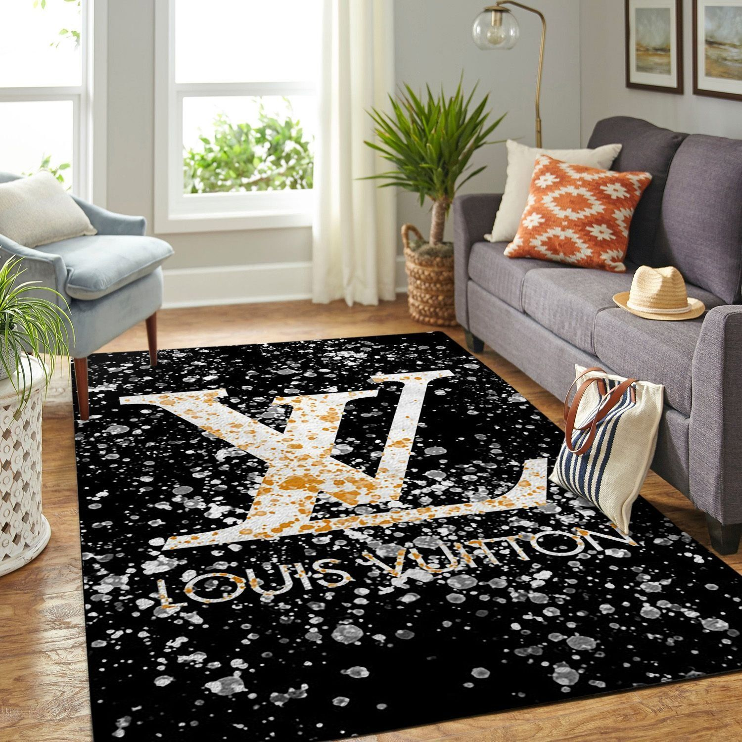 Amazon Louis Vuitton Living Room Area No1837 Rug