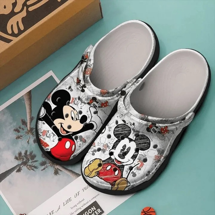 Amazon Mickey Mouse Painting Crocs Clog Shoes