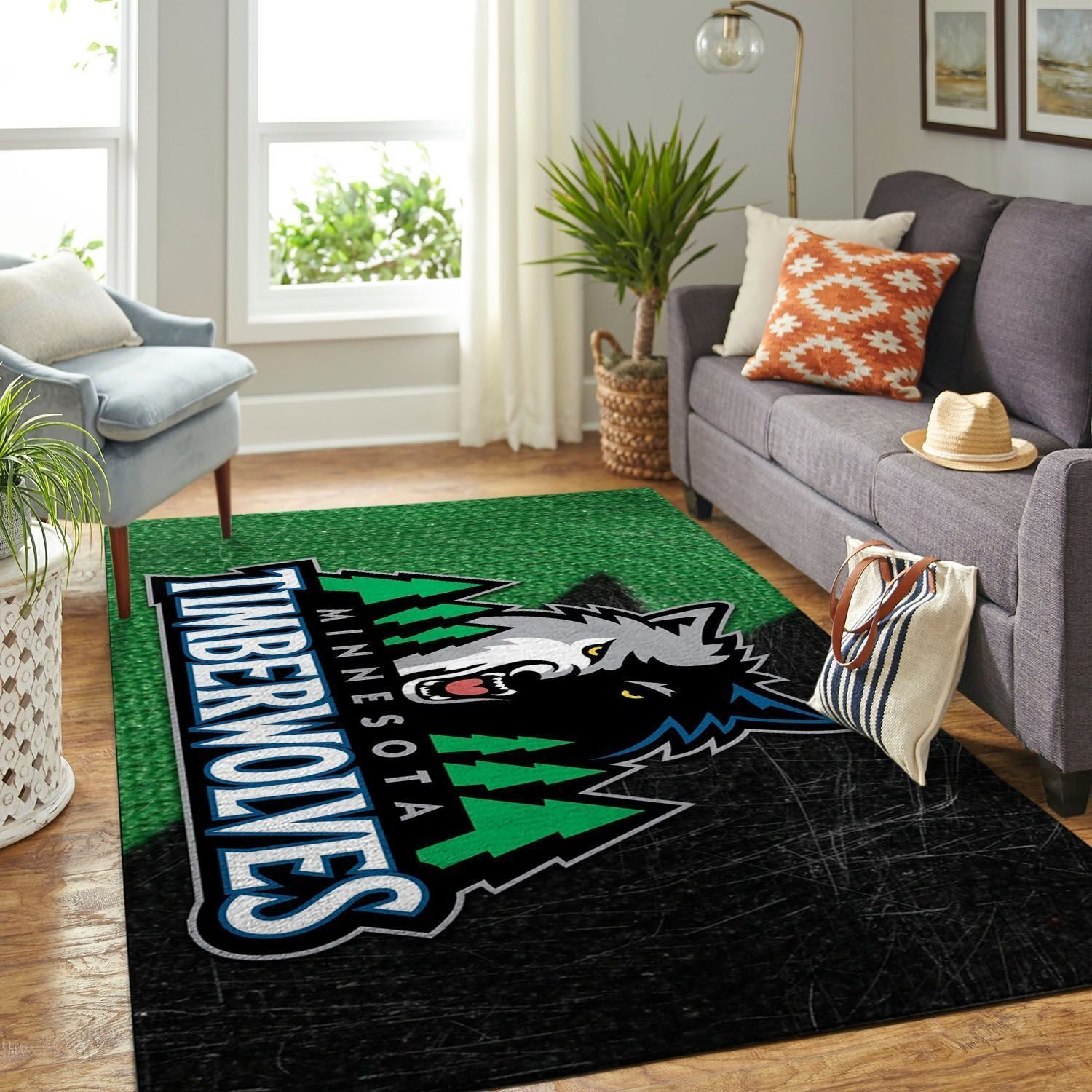 Amazon Minnesota Timberwolves Living Room Area No3906 Rug