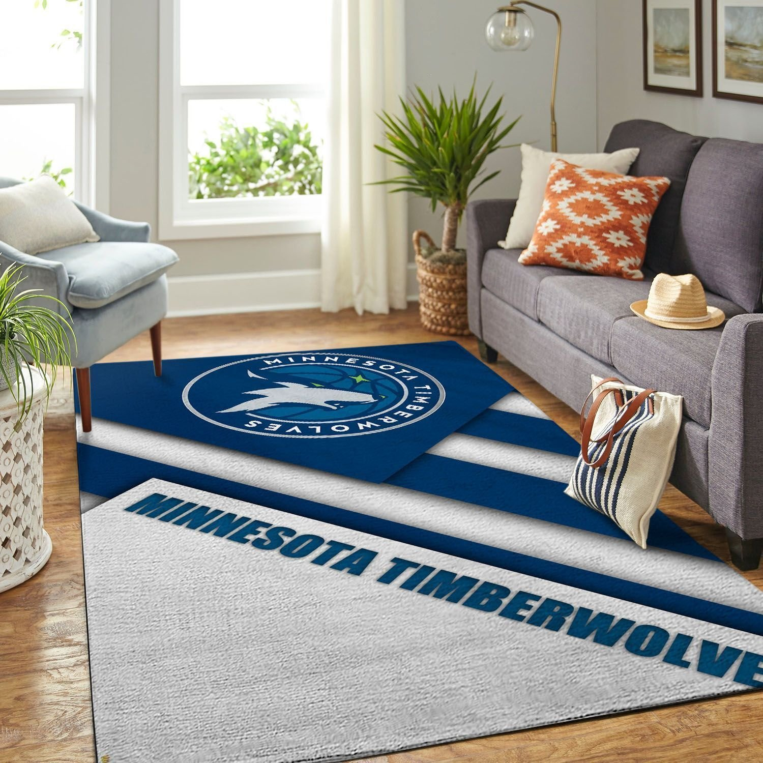 Amazon Minnesota Timberwolves Living Room Area No3907 Rug