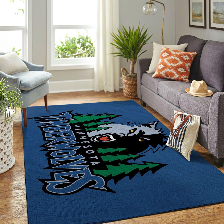Amazon Minnesota Timberwolves Living Room Area No3909 Rug