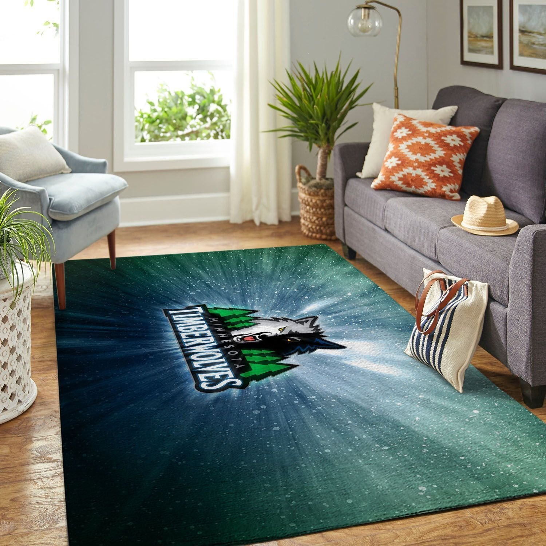 Amazon Minnesota Timberwolves Living Room Area No3910 Rug