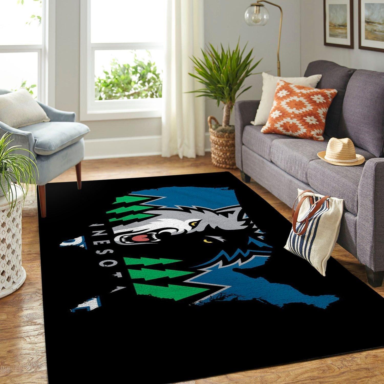 Amazon Minnesota Timberwolves Living Room Area No3914 Rug