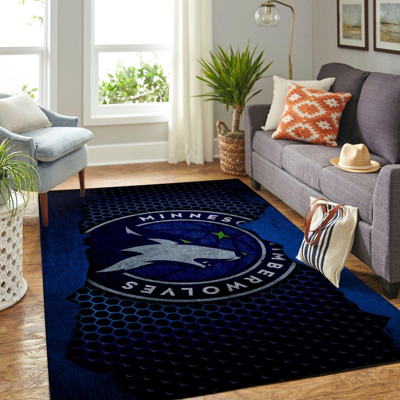 Amazon Minnesota Timberwolves Living Room Area No3920 Rug