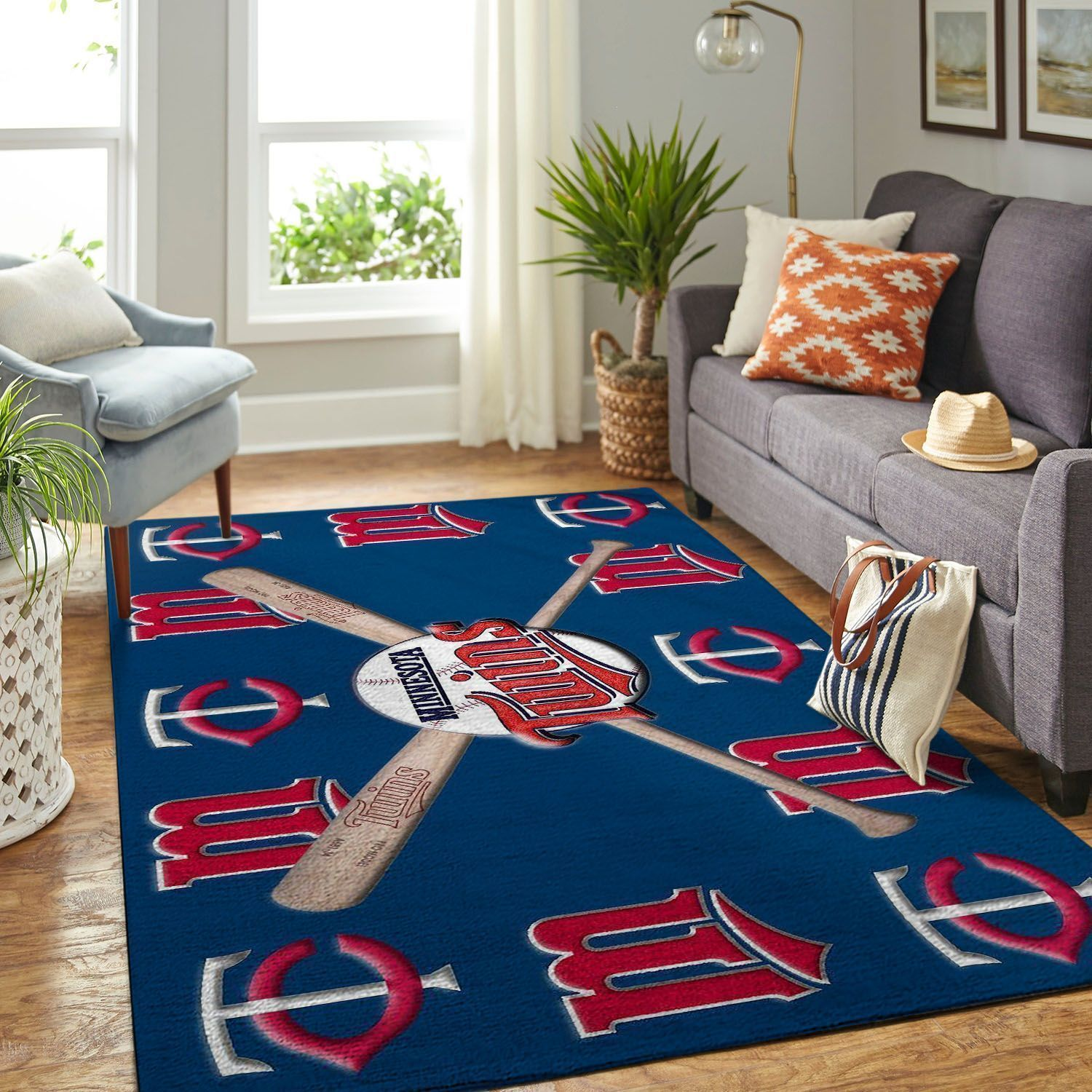 Amazon Minnesota Twins Living Room Area No3933 Rug