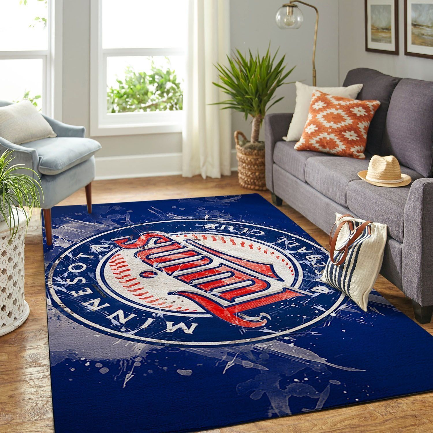 Amazon Minnesota Twins Living Room Area No3936 Rug