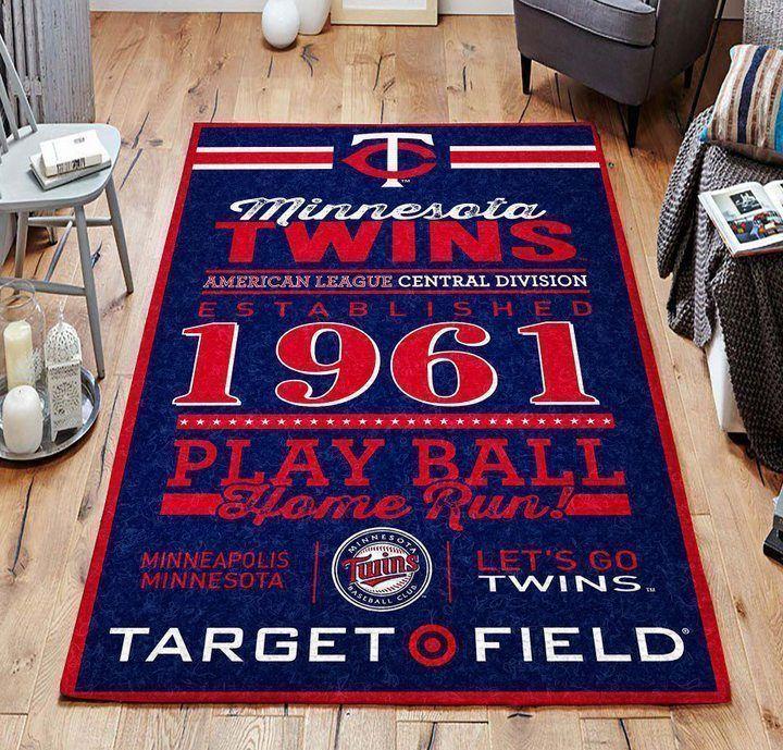 Amazon Minnesota Twins Living Room Area No3944 Rug