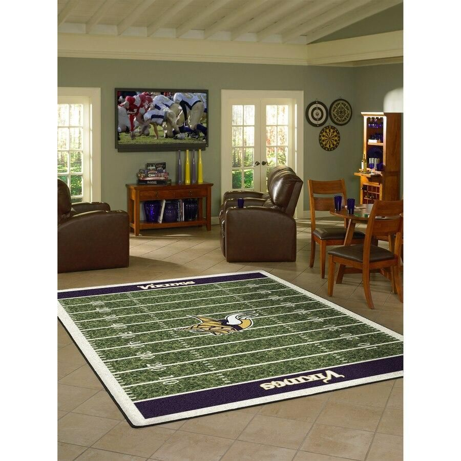 Amazon Minnesota Vikings Living Room Area No3948 Rug