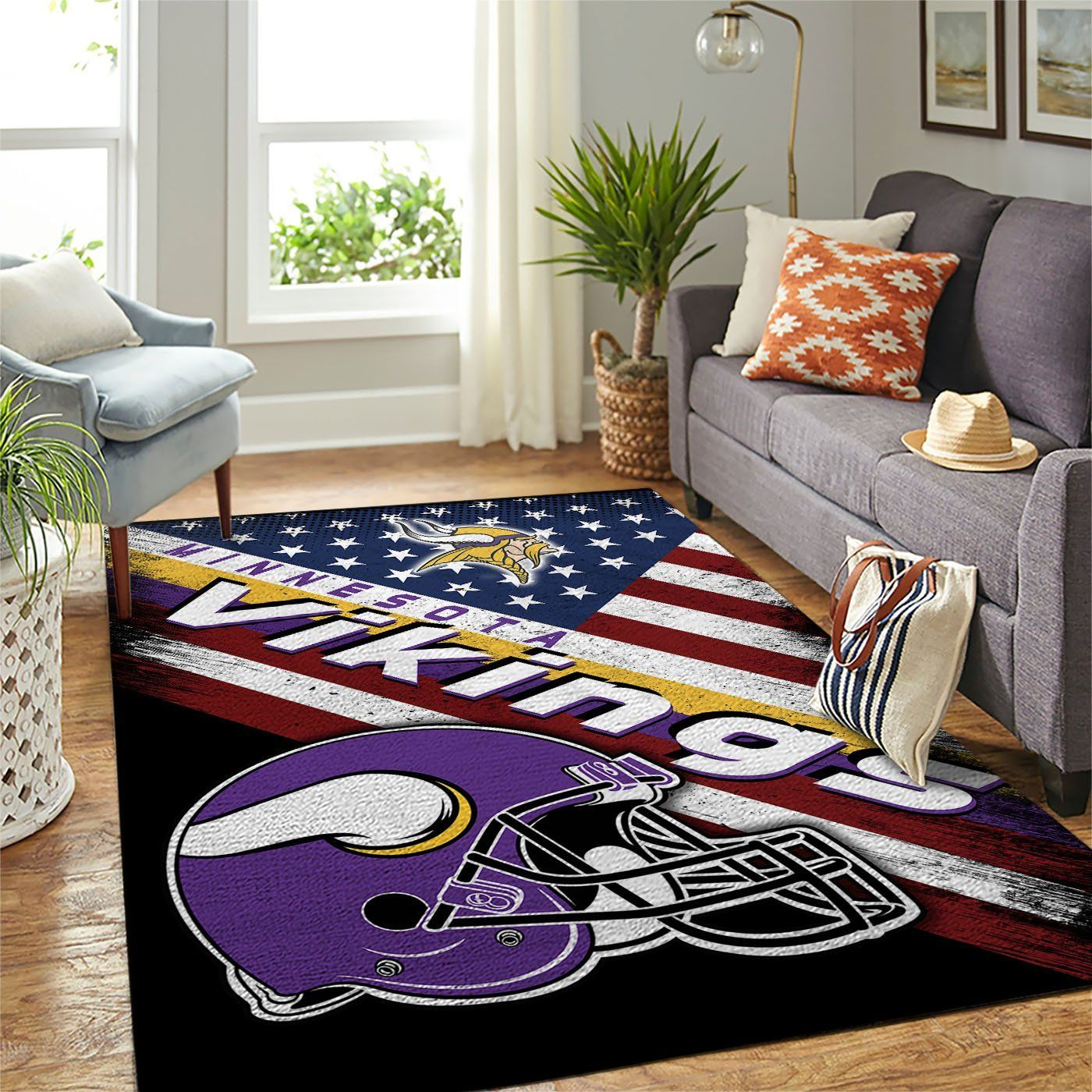 Amazon Minnesota Vikings Living Room Area No3949 Rug