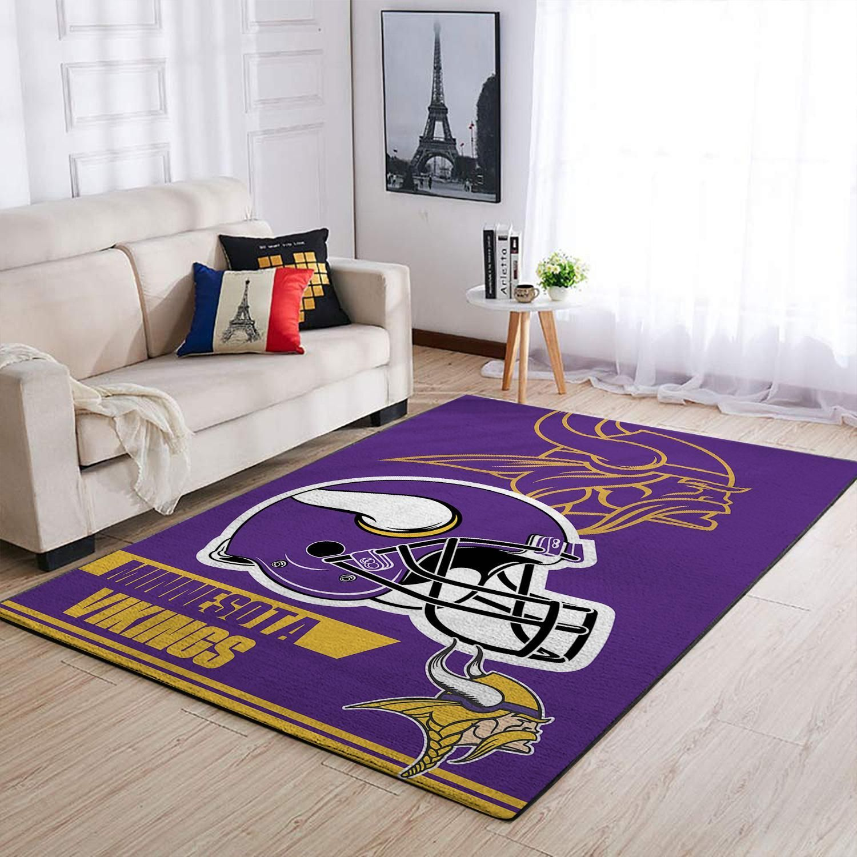 Amazon Minnesota Vikings Living Room Area No3953 Rug