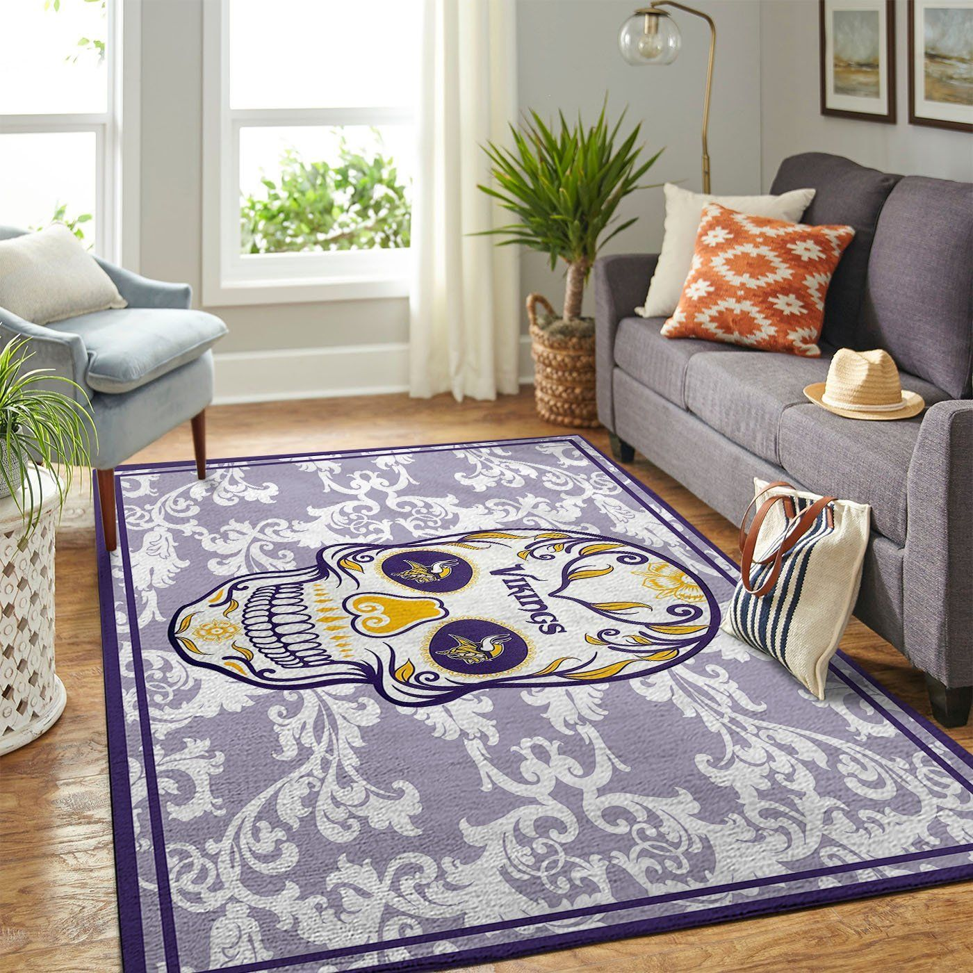 Amazon Minnesota Vikings Living Room Area No3959 Rug