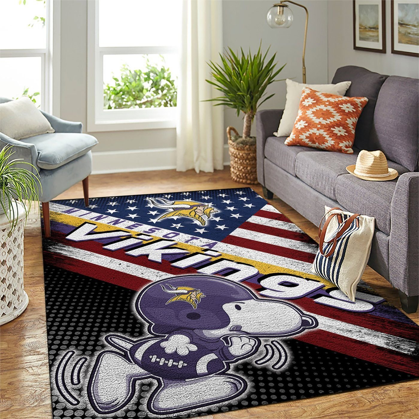 Amazon Minnesota Vikings Living Room Area No3961 Rug