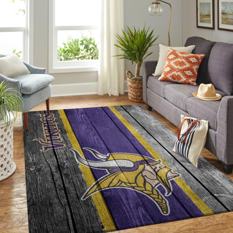 Amazon Minnesota Vikings Living Room Area No3963 Rug