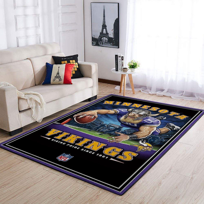 Amazon Minnesota Vikings Living Room Area No3964 Rug