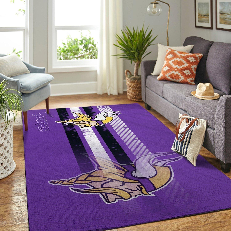 Amazon Minnesota Vikings Living Room Area No3966 Rug
