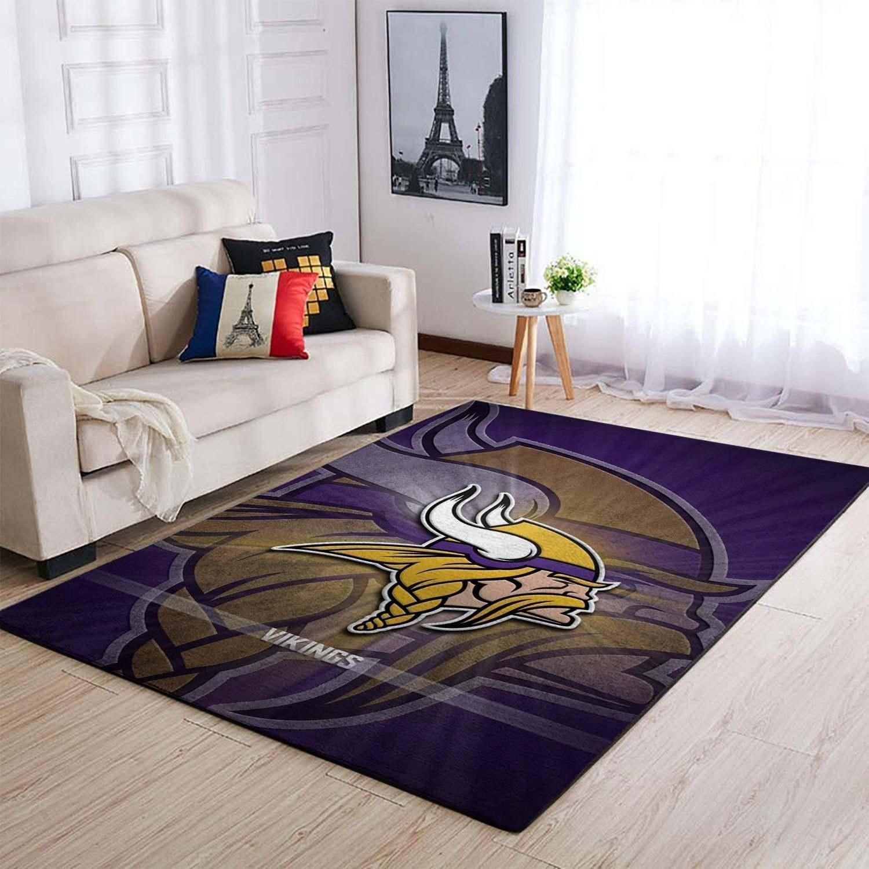Amazon Minnesota Vikings Living Room Area No3969 Rug