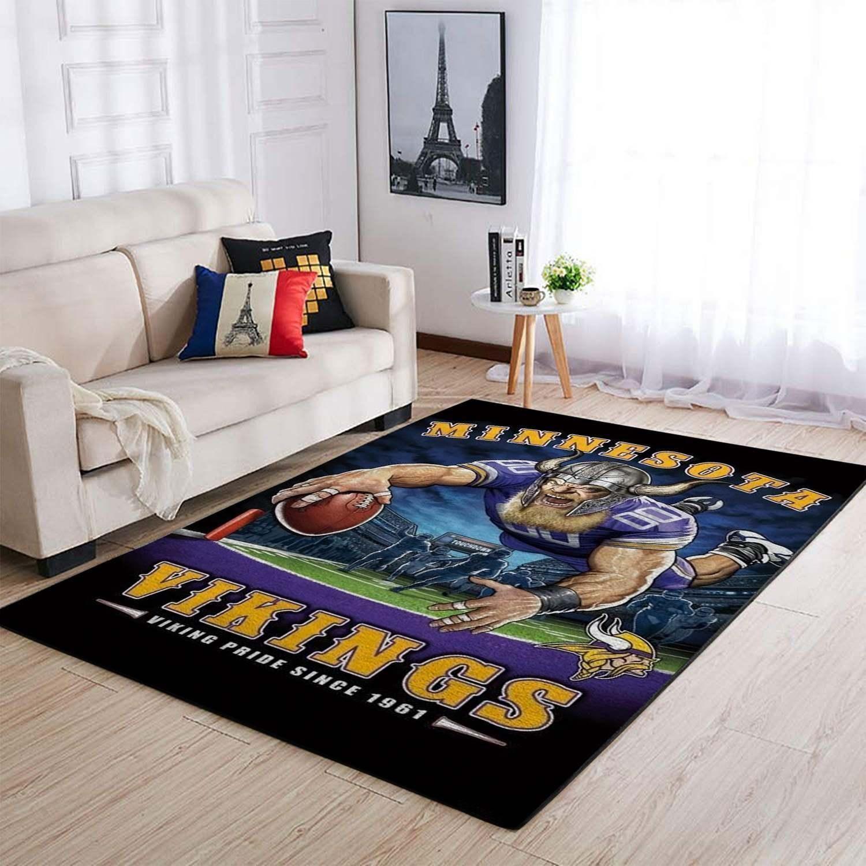 Amazon Minnesota Vikings Living Room Area No3973 Rug
