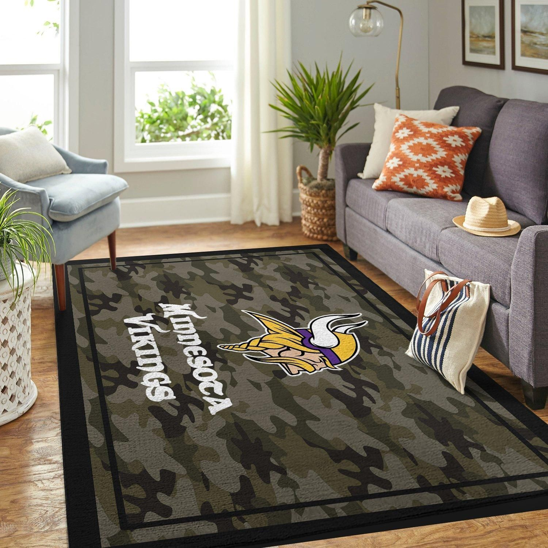 Amazon Minnesota Vikings Living Room Area No3975 Rug