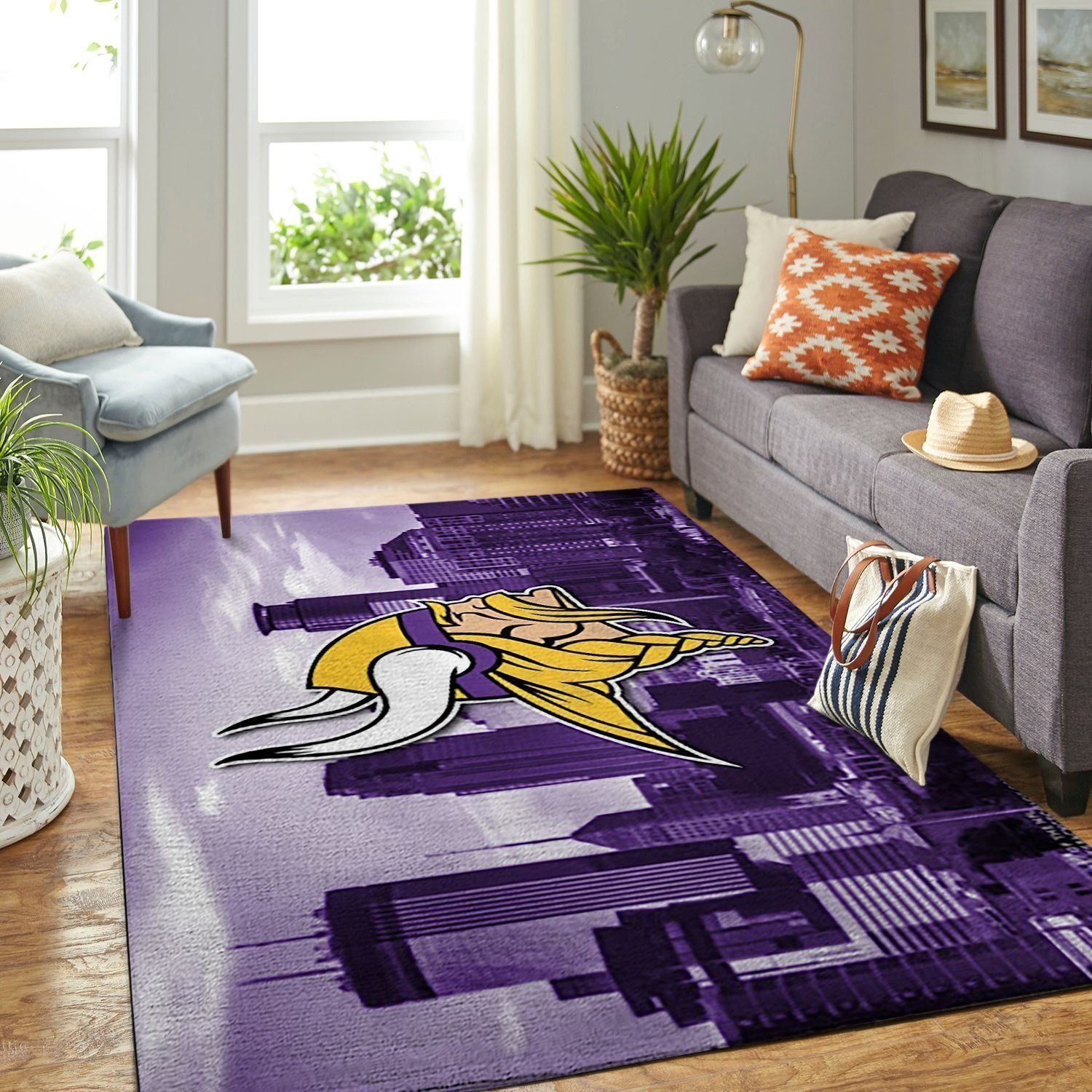 Amazon Minnesota Vikings Living Room Area No3980 Rug
