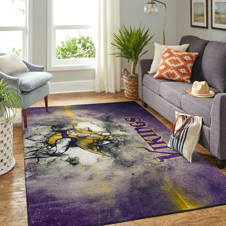 Amazon Minnesota Vikings Living Room Area No3983 Rug