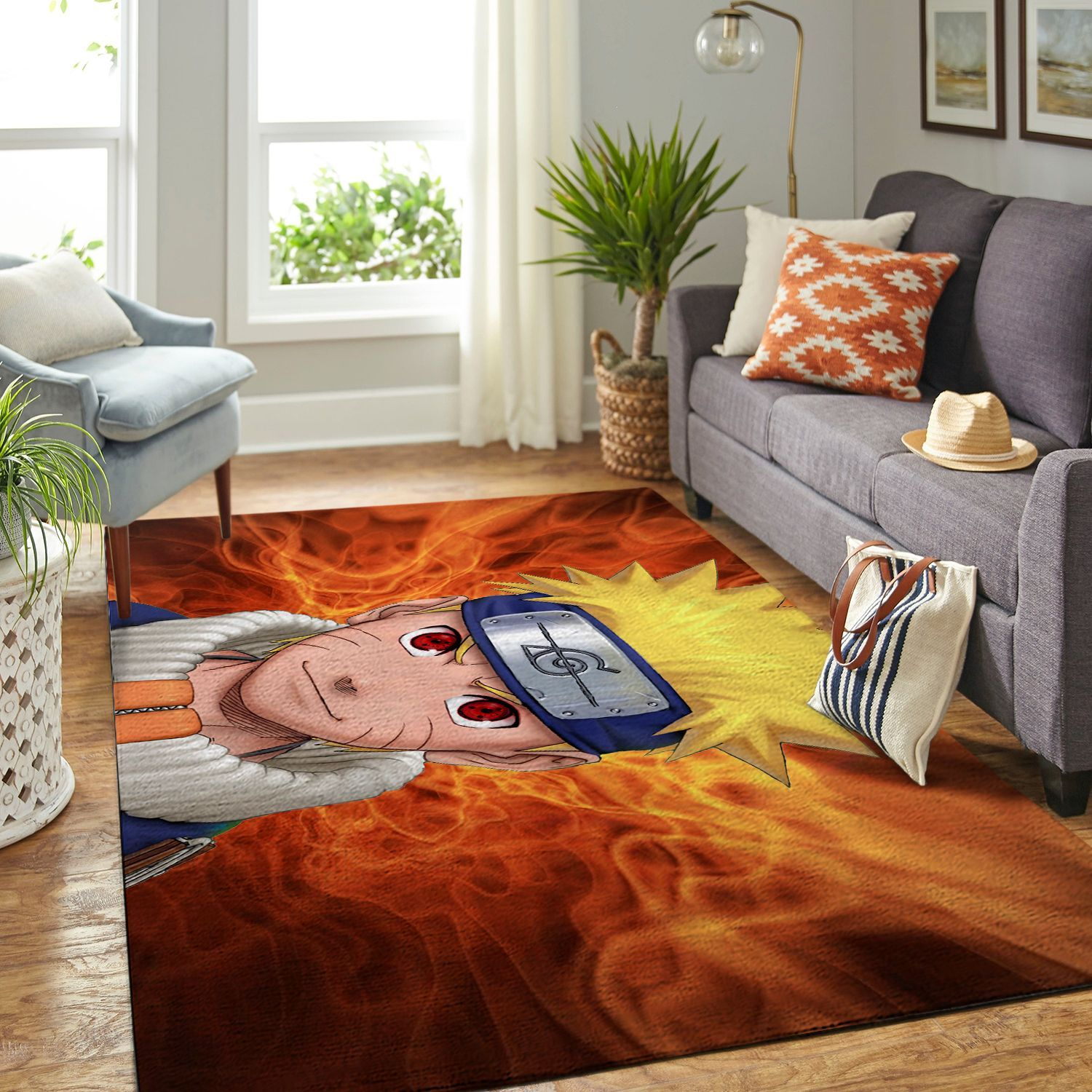 Amazon Naruto Themed Living Room Area No6364 Rug