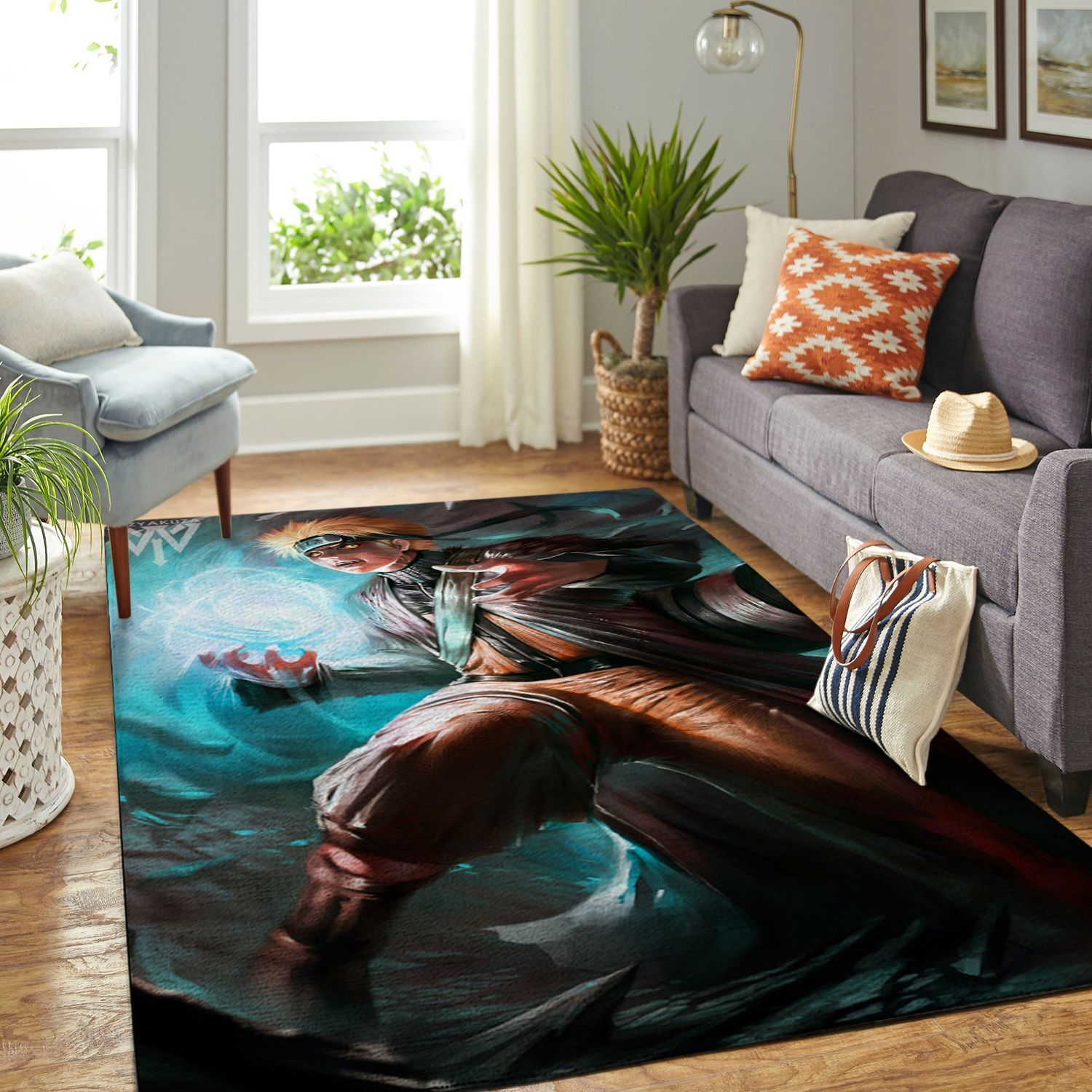 Amazon Naruto Themed Living Room Area No6375 Rug