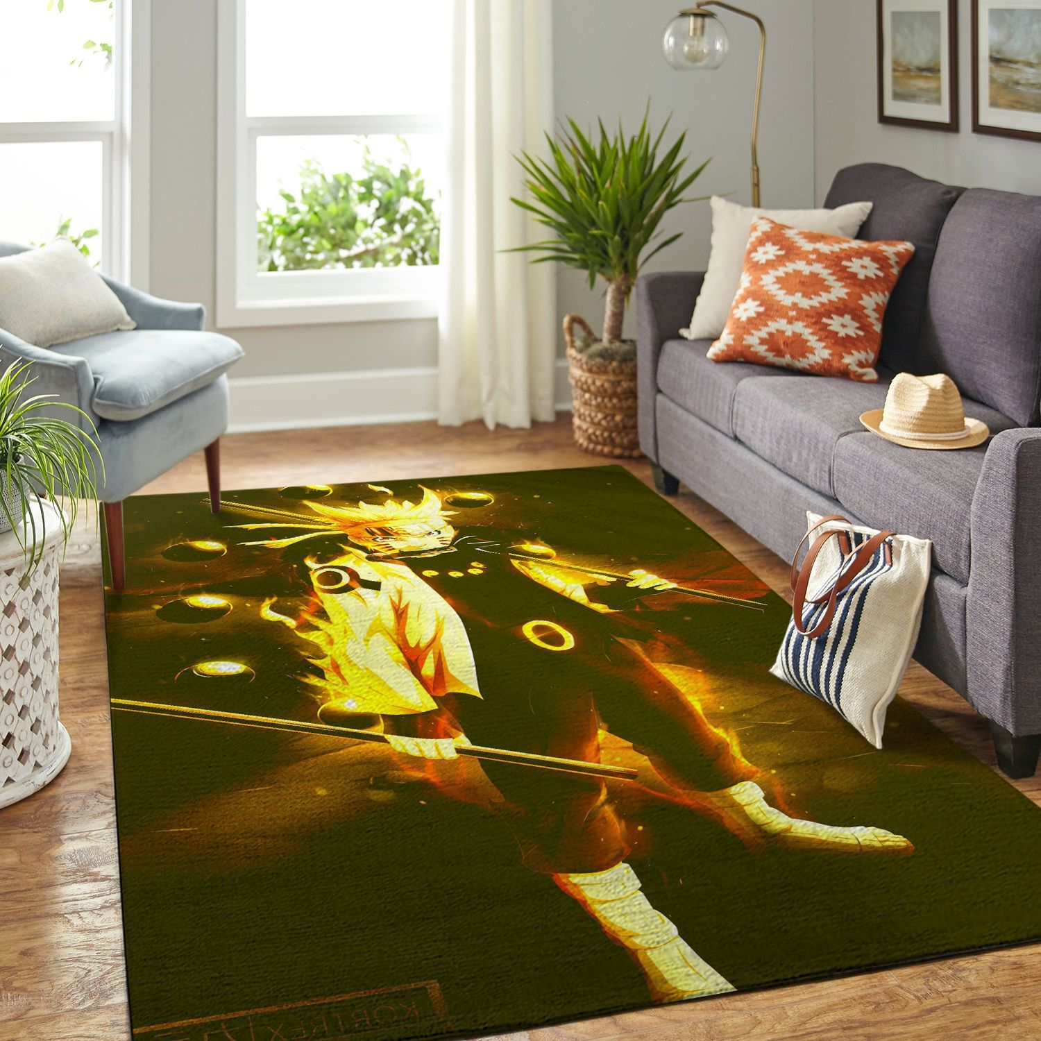 Amazon Naruto Themed Living Room Area No6378 Rug