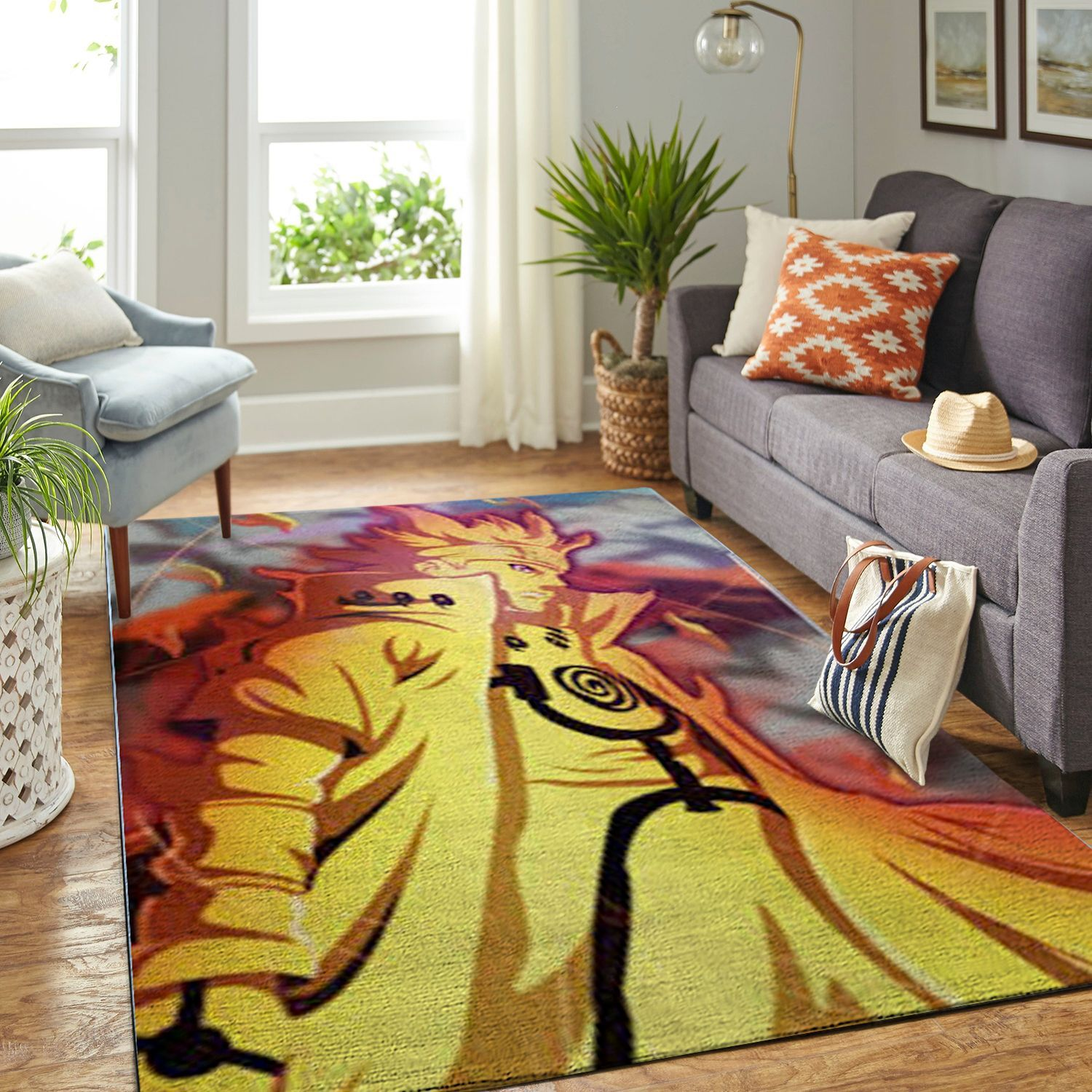 Amazon Naruto Themed Living Room Area No6381 Rug