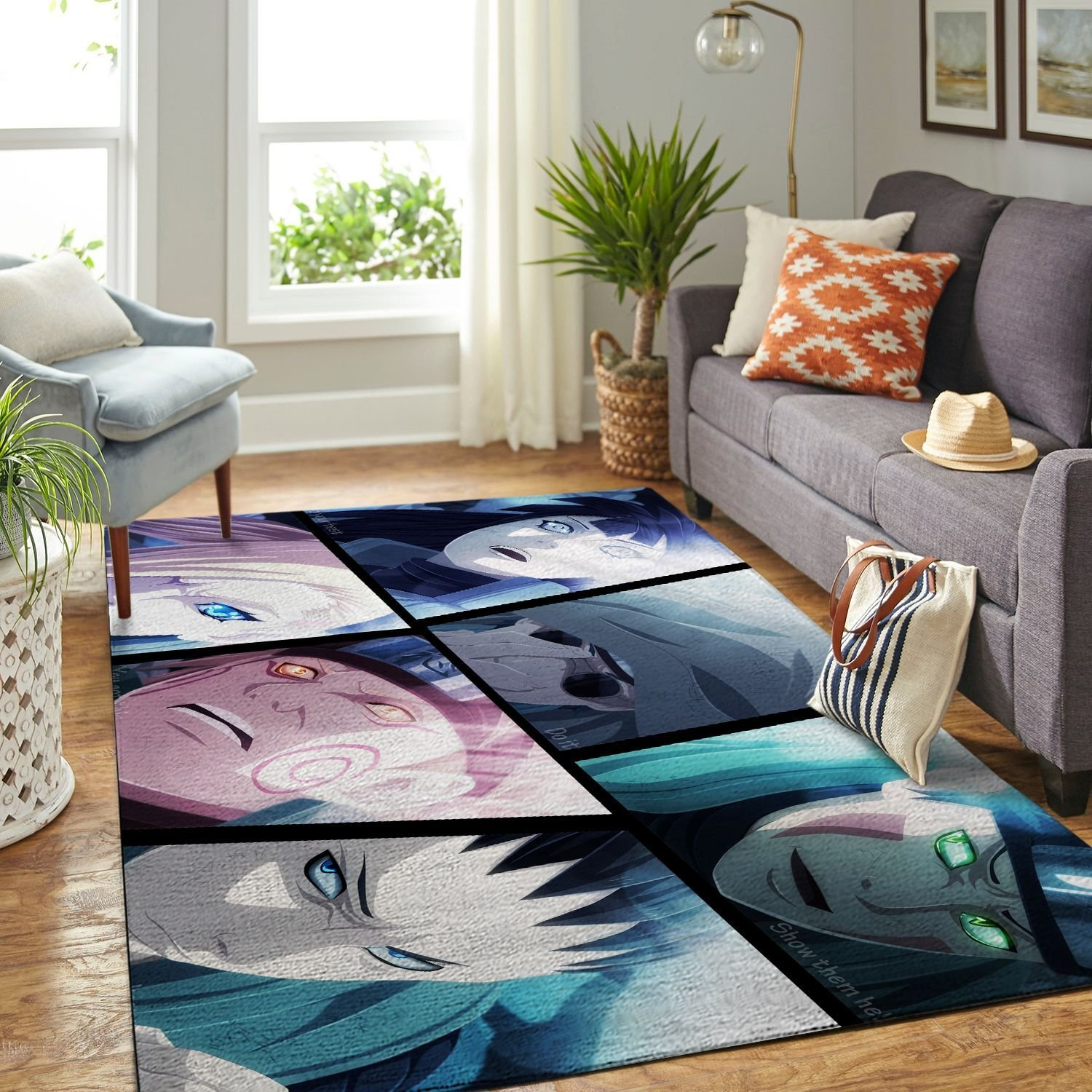 Amazon Naruto Themed Living Room Area No6385 Rug