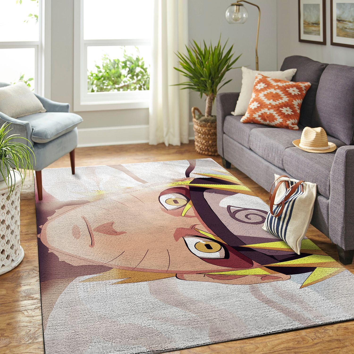 Amazon Naruto Themed Living Room Area No6391 Rug