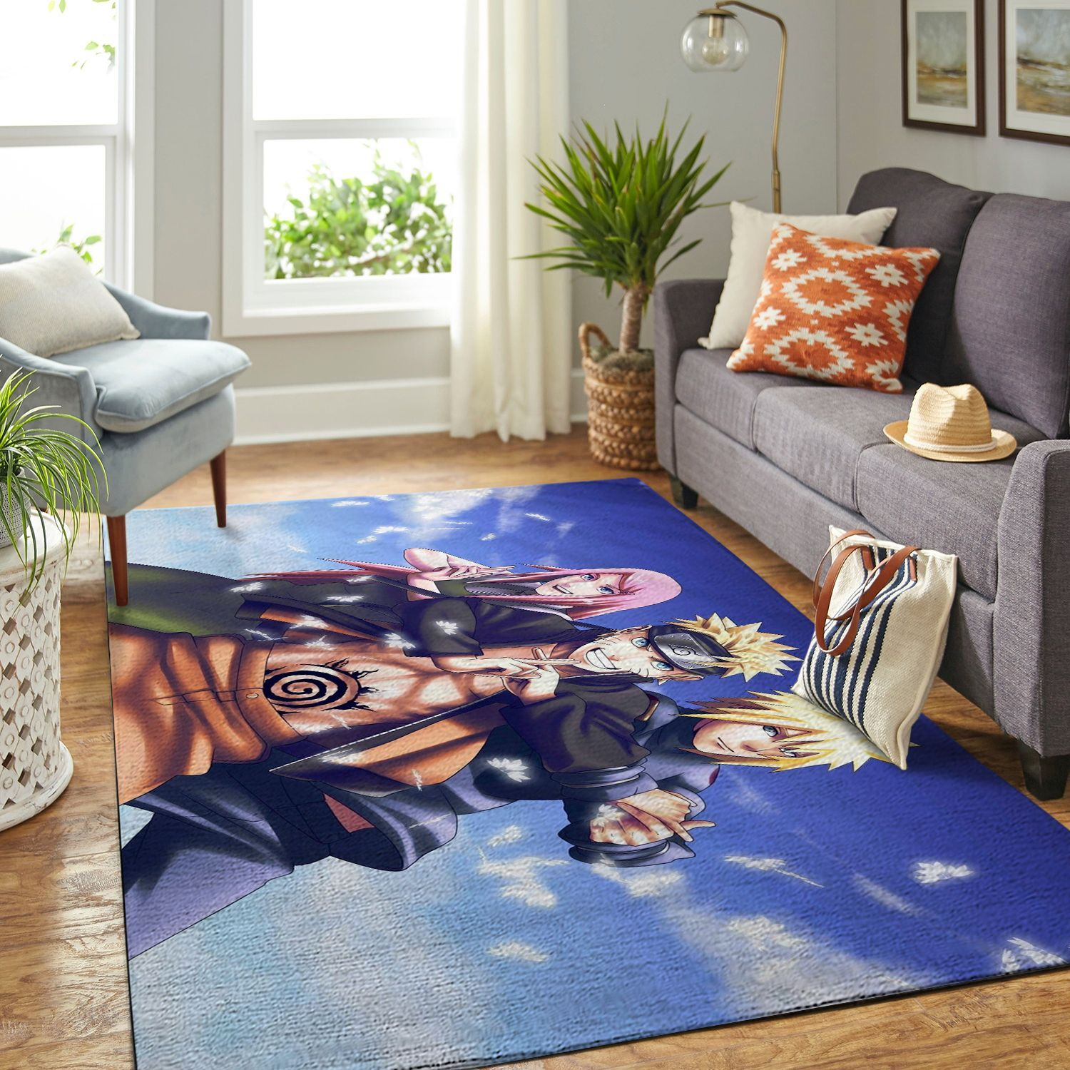 Amazon Naruto Themed Living Room Area No6398 Rug