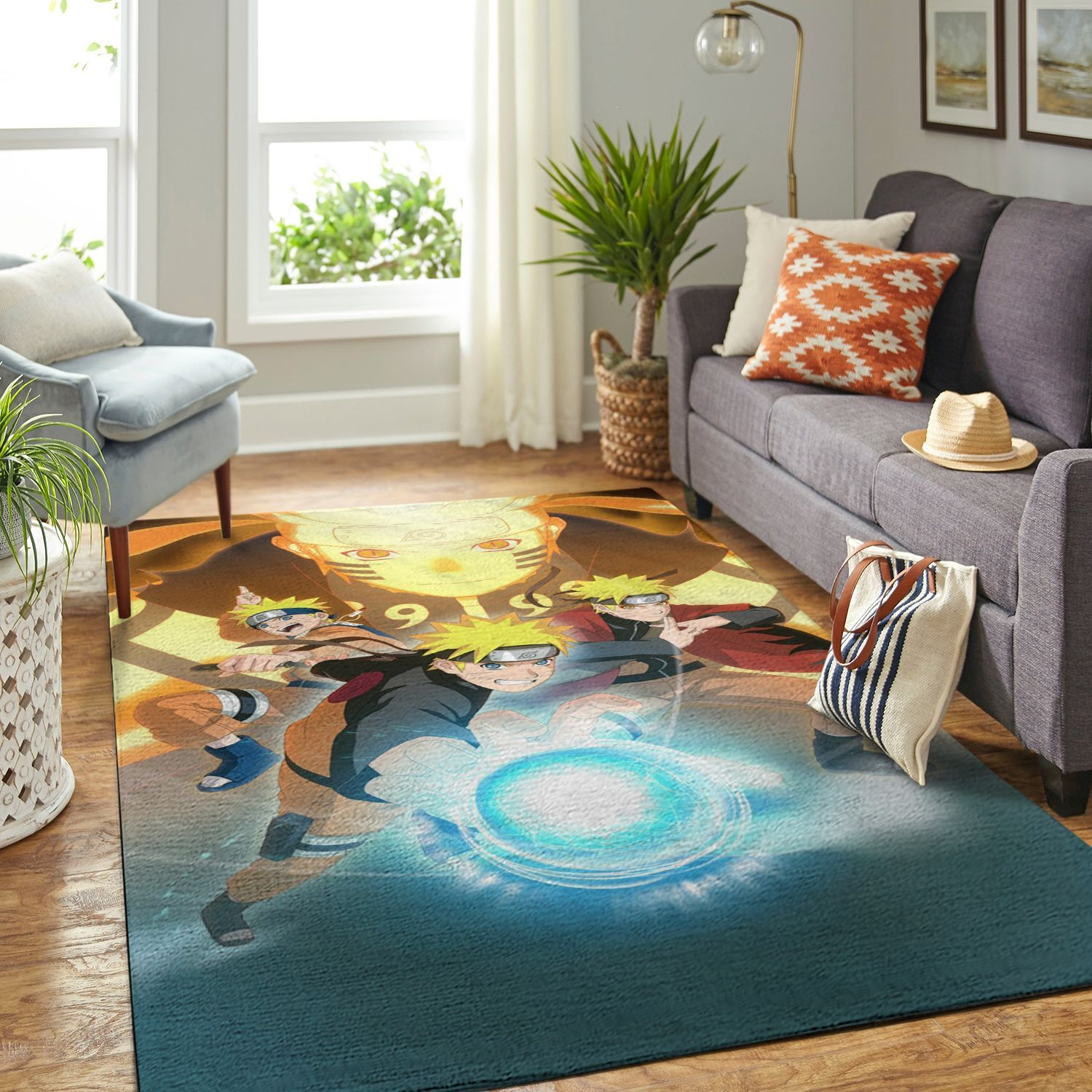 Amazon Naruto Themed Living Room Area No6404 Rug