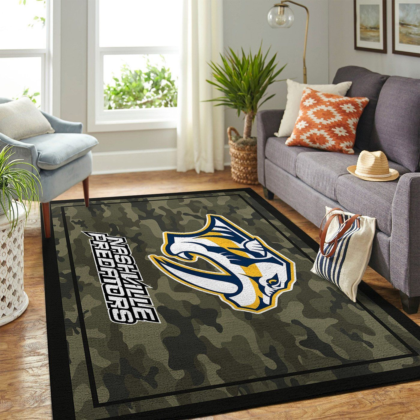 Amazon Nashville Predators Living Room Area No4002 Rug