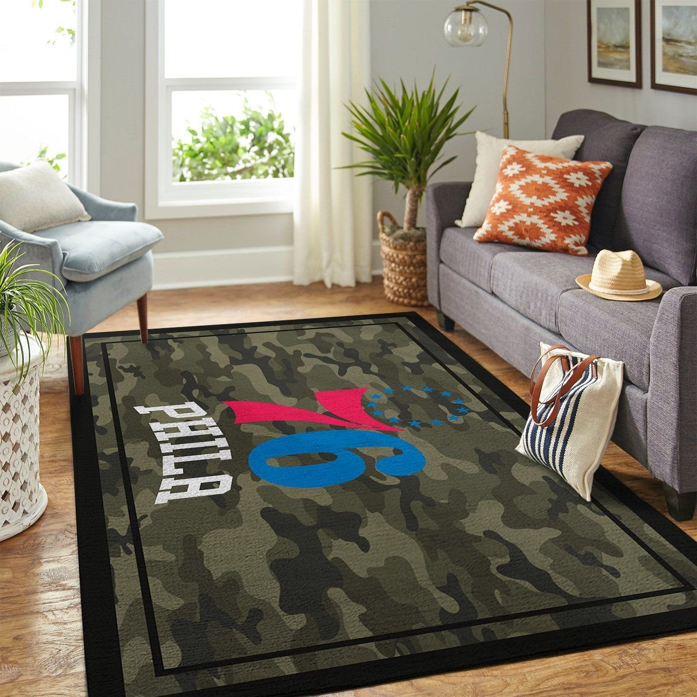 Amazon Philadelphia 76ers Living Room Area No4451 Rug