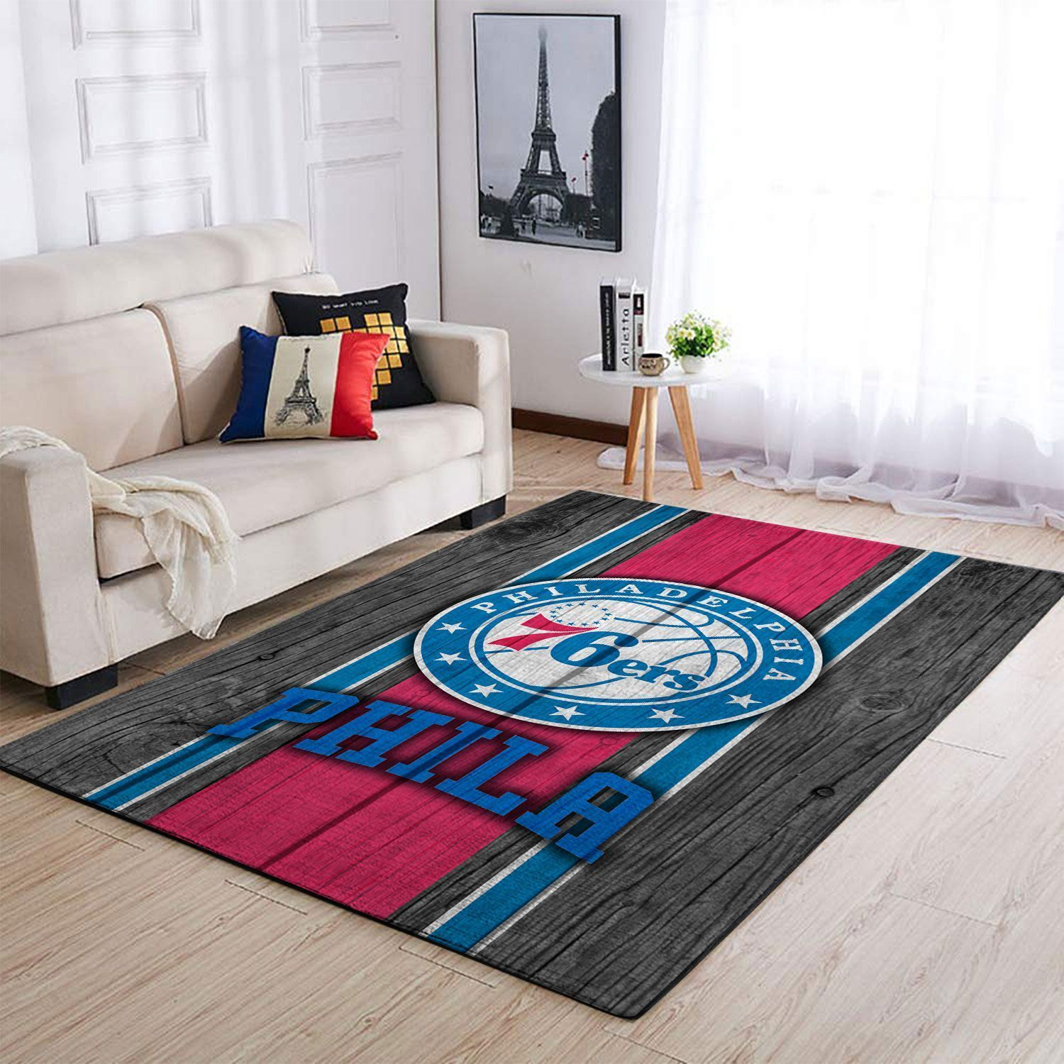 Amazon Philadelphia 76ers Living Room Area No4458 Rug